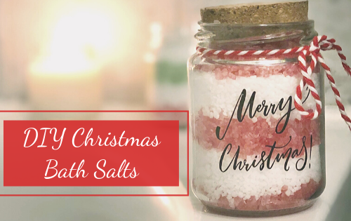 DIY Christmas bath salts