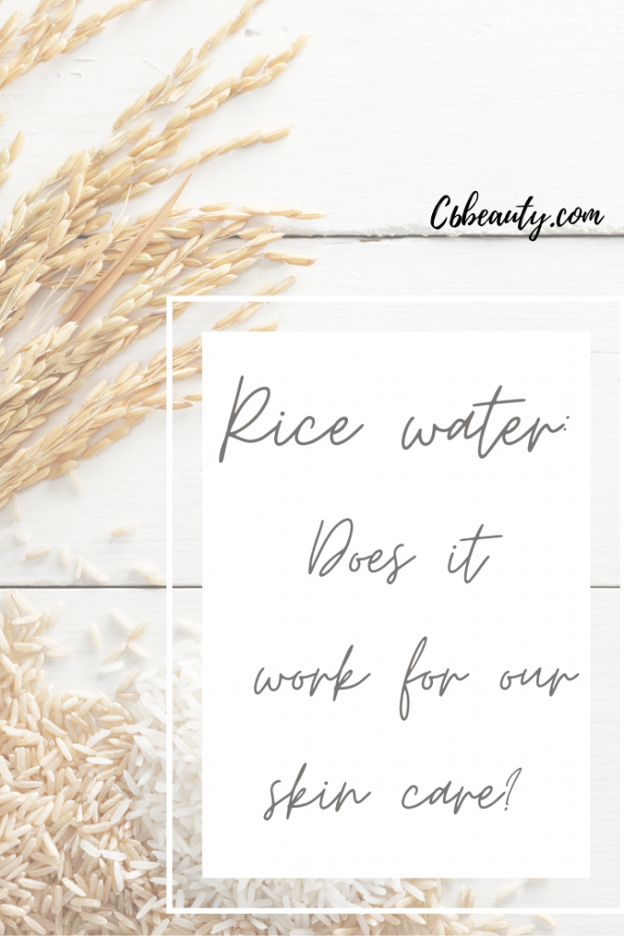 rice water skincare
