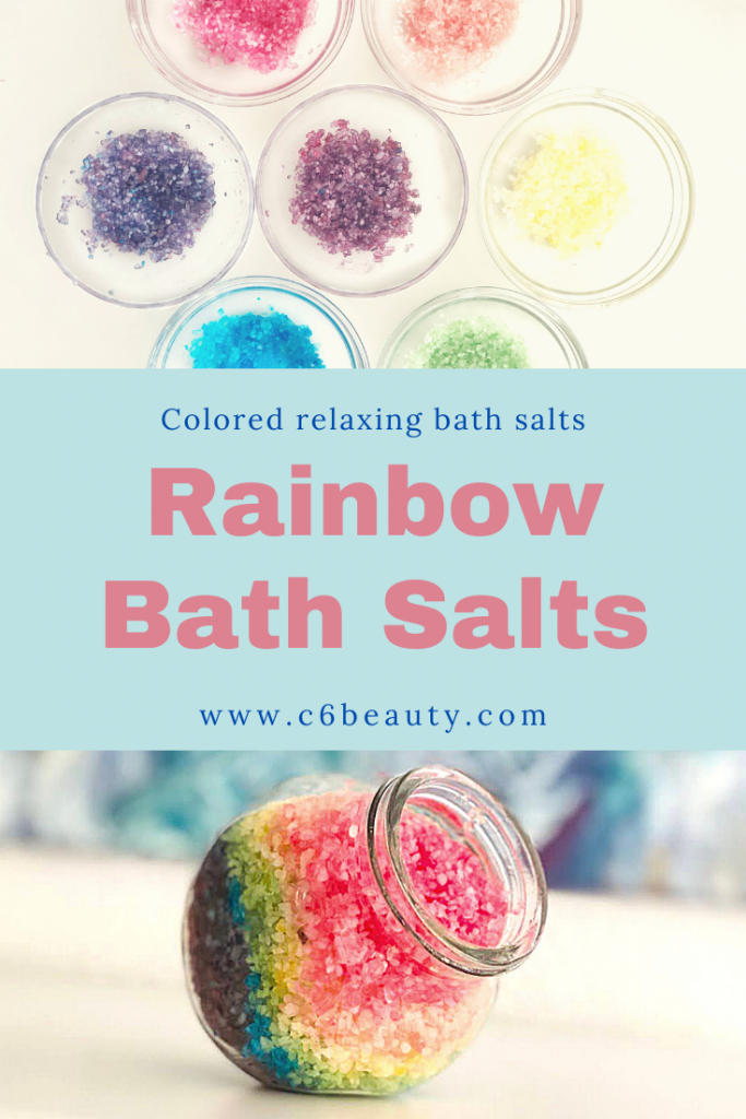 Relaxing bath salts| DIY Rainbow project