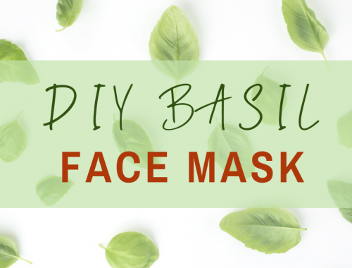 DIY basil face mask