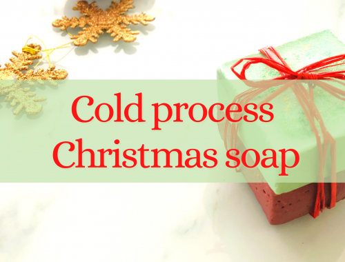 cold process christmas soap