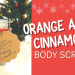 orange and cinnamon body scrub